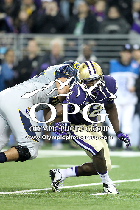 2013-10-26: Washington's Cory Littleton against Cal.  Washington won 41-17 over Cal in Seattle, WA.