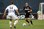 15 May 2004: Ben Olsen (right) takes on Jack Jewsbury (left) during the first half. DC United defeated the Kansas City Wizards 1-0 at RFK Stadium in Washington, DC during a regular season Major League Soccer game..