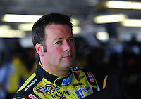 Sept. 26, 2008; Kansas City, KS, USA; Nascar Sprint Cup Series driver Robby Gordon during practice for the Camping World RV 400 at Kansas Speedway. Mandatory Credit: Mark J. Rebilas-