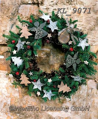 Interlitho-Alberto, CHRISTMAS SYMBOLS, WEIHNACHTEN SYMBOLE, NAVIDAD SÍMBOLOS, photos+++++,wreath,KL9071,#xx#