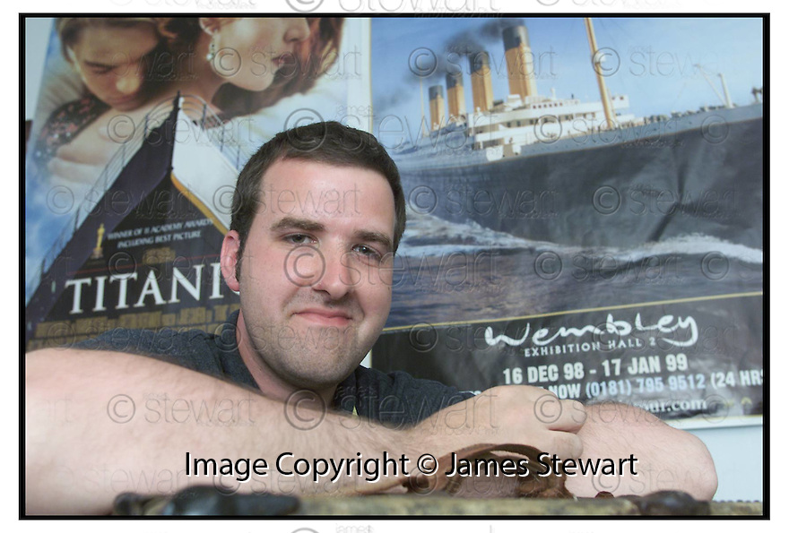 (date)                                       Copyright Pic : James Stewart .Ref :                           .File Name : stewart07-titanic                       .SEAN SZMALC OF THE FALKIRK TITANIC SOCIETY WHO IS CAMPAIGNING FOR A MEMORIAL FOR THE FORGOTTEN SCOTTISH HERO WILLIAM MOYES...........(see copy from George Mair / Tim Bugler).....Payments to :-.James Stewart Photo Agency, Stewart House, Stewart Road, Falkirk. FK2 7AS      Vat Reg No. 607 6932 25.Office : 01324 630007        Mobile : 0421 416997.E-mail : jim@jspa.co.uk.           : jim@jamesstewart.co.uk.If you require further information then contact Jim Stewart on any of the numbers above.........