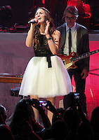 LOS ANGELES, CA - SEPTEMBER 11: Sara Bareilles performs at The Greek Theatre on September 11, 2013 in Los Angeles, California. (Photo by Xavier Collin/Celebrity Monitor)