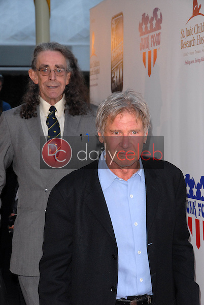 Peter Mayhew and Harrison Ford<br />
