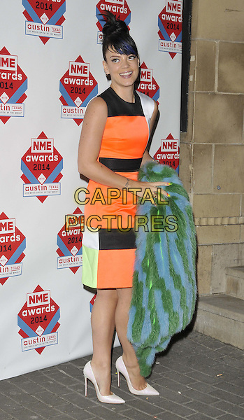 LONDON, ENGLAND - FEBRUARY 26: Lily Allen attends the NME Awards 2014, O2 Academy Brixton, Stockwell Rd., on Wednesday February 26, 2014 in London, England, UK.<br /> CAP/CAN<br /> &copy;Can Nguyen/Capital Pictures