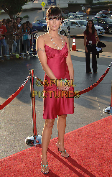 "LENA HEADEY.The  Los Angeles Premiere of ""The Brothers Grimm"" held at The DGA Theatre, Los Angeles, CA..August 8th, 2005.Photo credit: Jacqui Wong/AdMedia.full length red dress tattoo.www.capitalpictures.com.sales@capitalpictures.com.© Capital Pictures."