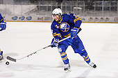 Buffalo Junior Sabres defensemen Nick Desimone (17) during a game against the St. Michaels Buzzers at the Frozen Frontier outdoor game at Frontier Field on December 15, 2013 in Rochester, New York.  St. Michael's defeated Buffalo 5-4.  (Copyright Mike Janes Photography)