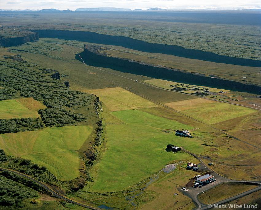 Ásbyrgi séð til suðurs, Kelduneshreppur / Asbyrgi viewing south, Kelduneshreppur.