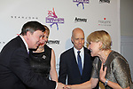 Lynn & Samuel Auxier greet Scott Hamilton and Andrea Joyce - Figure Skating in Harlem celebrates 20 years - Champions in Life benefit Gala on May 2, 2017 in New York Ciry, New York.   (Photo by Sue Coflin/Max Photos)