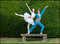 BNPS.co.uk (01202 5588933)<br /> Pic: PhilYeomans/BNPS<br /> <br /> Yorkshire born Xander Parish Principal of the Mariinsky Ballet with his partner First Soloist Maria Khoreva.<br /> <br /> The Covent Garden Dance Company have moved out of the city to perform in the idyllic surroundings of Hatch House near Tisbury this weekend.<br /> <br /> Top stars from some of the worlds finest company's have travelled out to the Wiltshire countryside to perform in the 10th anniversary Ballet Under the Stars event.