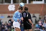 06 December 2008: North Carolina's Kirk Urso (18) and Northwestern's Kevin Valenta (9). The University of North Carolina Tar Heels defeated the Northwestern University Wildcats 1-0 at Fetzer Field in Chapel Hill, North Carolina in a NCAA Division I Men's Soccer tournament quarterfinal game.
