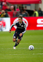 22 October 2011: New England Revolution midfielder Ryan Guy #13 in action during a game between the New England Revolution and Toronto FC at BMO Field in Toronto..The game ended in a 2-2 draw.