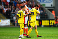 Fleetwood Town's Nathan Sheron walks off after being shown a red card<br /> <br /> Photographer Richard Martin-Roberts/CameraSport<br /> <br /> The EFL Sky Bet League One - Blackpool v Fleetwood Town - Monday 22nd April 2019 - Bloomfield Road - Blackpool<br /> <br /> World Copyright © 2019 CameraSport. All rights reserved. 43 Linden Ave. Countesthorpe. Leicester. England. LE8 5PG - Tel: +44 (0) 116 277 4147 - admin@camerasport.com - www.camerasport.com