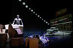 CALL IT KISSED BY THE SUN BETTER STILL THE REVENGE OF GEOGRAPHY....Choregraphie : ORLIN Robyn..Compagnie : CITYTHEATRE DANCEGROUP..Illustration graphique en direct : Maxime REBIERE..Lumiere : HOUILLIER Erik..Costumes : BERIOT Olivier..Dramaturgie : Olivier Hespel..scenographie video : Philippe laine..participation : Gerard Mendy..Avec :..SISSOKO Ibrahim..Lieu : Theatre de la Ville Les Abbesses..Ville : Paris..Le : 18 01 2010..© Laurent PAILLIER / photosdedanse.com..All rights reserved