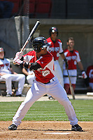 Dave Sappelt #6 of the Carolina Mudcats at bat during a game against the Chattanooga Lookouts on on May 9, 2010 in Zebulon, NC.