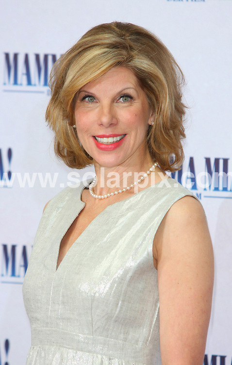 **ALL ROUND PICTURES FROM SOLARPIX.COM**.**SYNDICATION RIGHTS FOR UK AND SPAIN ONLY**.The Photocall for the movie Mamma Mia with Pierce Brosnan and  Meryl Streep in Berlin  in Germany. .This pic:Christine Baranski..JOB REF:6770-CPR/Clemens Bilan    DATE:02_07-08.**MUST CREDIT SOLARPIX.COM OR DOUBLE FEE WILL BE CHARGED* *UNDER NO CIRCUMSTANCES IS THIS IMAGE TO BE REPRODUCED FOR ANY ONLINE EDITION WITHOUT PRIOR PERMISSION*