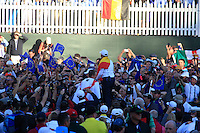 Team Europe Celebrate there win of the 39th Ryder Cup at Medinah Country Club, Chicago, Illinois .(Photo Colum Watts/www.golffile.ie)