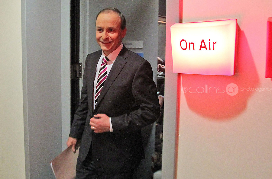 08/02/'11 Fianna Fail leader Micheál Martin pictured this evening at TV3, Ballymount Dublin where they participated in the first televised leader's debate of Election 2011...Picture Colin Keegan, Collins, Dublin.