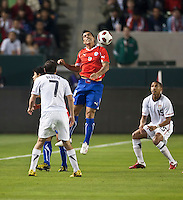 CARSON, CA – JANUARY 22: Chile forward Estaban Paredes (9) the international friendly match between USA and Chile at the Home Depot Center, January 22, 2011 in Carson, California. Final score USA 1, Chile 1.