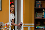 """Diana Irazaba at """"Usted puede ser un asesino"""" Theater play in Muñoz Seca Theater, Madrid, Spain, September 07, 2015. <br /> (ALTERPHOTOS/BorjaB.Hojas)"""