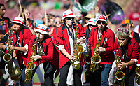 Stanford, CA - September 21, 2019: Band at Stanford Stadium. The Stanford Cardinal fell to the Oregon Ducks 21-6.