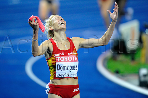 18th August 2009: Marta DOMINGUEZ competes in the 3000m at the 12th IAAF World Championships in Athletics, Berlin, Germany. Photo:  Frank Hoermann/SVEN SIMON/ActionPlus. UK Licenses Only.