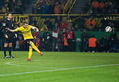 February 5th 2019, Dortmund, Germany, German DFB Cup round of 16, Borussia Dortmund versus SV Werder Bremen;  Dortmund's Marco Reus scores from a free-kick for 1-1.