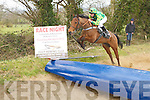Joe Holly of Tommy Cooper Stables who done a boat jump to help out the Fenit Rowing Committe to announce the forth coming Race Night at thed Tankard Bar & Restaurant, Kilfenoraz Fenit on Good Friday,