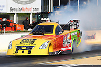 May 16, 2014; Commerce, GA, USA; NHRA funny car driver Bob Bode during qualifying for the Southern Nationals at Atlanta Dragway. Mandatory Credit: Mark J. Rebilas-USA TODAY Sports