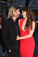 LONDON, UK. October 16, 2016: Sharlto Copley &amp; wife Tanit Phoenix Copley at the London Film Festival 2016 premiere of &quot;Free Fire&quot; at the Odeon Leicester Square, London.<br /> Picture: Steve Vas/Featureflash/SilverHub 0208 004 5359/ 07711 972644 Editors@silverhubmedia.com