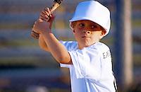 Little league boy at bat.