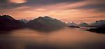 Sunset on Lake Wakatipu. Otago Region. New Zealand.