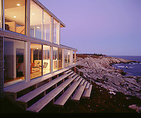 vacation house on rocky shore (Koehler house), New Brunswick, Canada