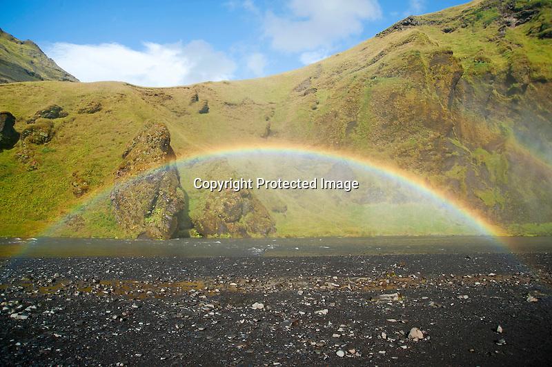 Skogafoss Waterfall Rainbow
