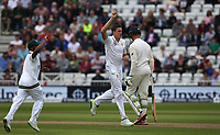 South Africa's Morne Morkel celebrates taking the wicket of England's Alastair Cook (right)<br /> <br /> Photographer Stephen White/CameraSport<br /> <br /> Investec Test Series 2017 - Second Test - England v South Africa - Day 2 - Saturday 15th July 2017 - Trent Bridge - Nottingham<br /> <br /> World Copyright &copy; 2017 CameraSport. All rights reserved. 43 Linden Ave. Countesthorpe. Leicester. England. LE8 5PG - Tel: +44 (0) 116 277 4147 - admin@camerasport.com - www.camerasport.com