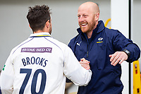 Picture by Alex Whitehead/SWpix.com - 23/04/2018 - Cricket - Specsavers County Championship Div One - Yorkshire v Nottinghamshire, Day 4 - Emerald Headingley Stadium, Leeds, England - Yorkshire first-team coach Andrew Gale celebrates with Jack Brooks after the win.