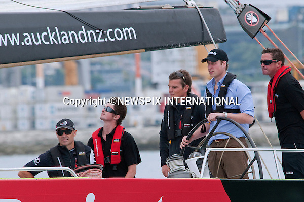 "PRINCE WILLIAM.Prince William had an afternoon on the water to clear some of his jetlag.The Prince took approximately an hour out on the waters on the NZL41 (a former America's Cup yacht) along with the crew and his personal staff including taking helm. Waitemata Harbour, Auckland_17/01/2010.Mandatory Credit Photo: ©DIAS-NEWSPIX INTERNATIONAL..**ALL FEES PAYABLE TO: ""NEWSPIX INTERNATIONAL""**..IMMEDIATE CONFIRMATION OF USAGE REQUIRED:.Newspix International, 31 Chinnery Hill, Bishop's Stortford, ENGLAND CM23 3PS.Tel:+441279 324672  ; Fax: +441279656877.Mobile:  07775681153.e-mail: info@newspixinternational.co.uk"