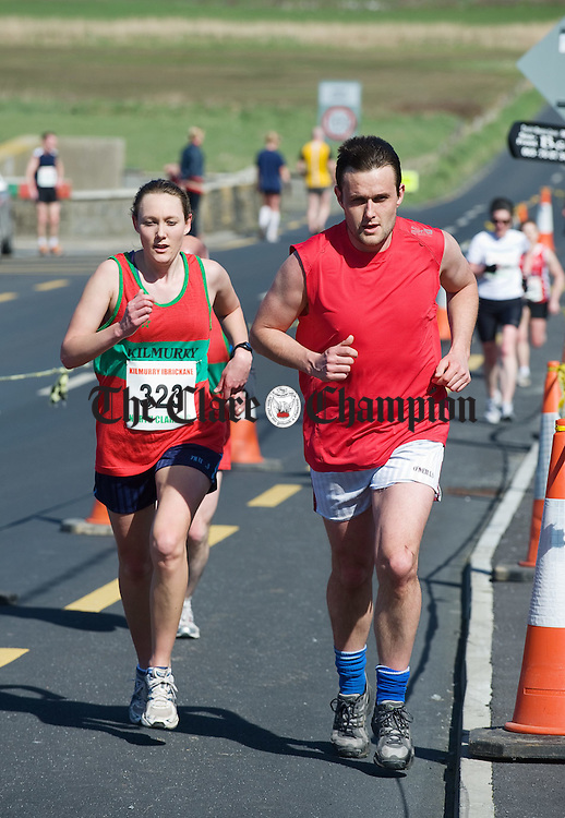 Dympna O Dwyer and her brother Peter competing at the Michael Egan Memorial roadrace in Quilty. Photograph by John Kelly.