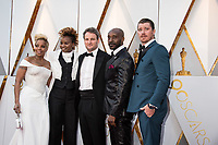 Oscar&reg; nominees Mary J. Blige and Dee Rees arrive with Jason Clarke, Rob Morgan, and Garrett Hedlund for the live ABC Telecast of The 90th Oscars&reg; at the Dolby&reg; Theatre in Hollywood, CA on Sunday, March 4, 2018.<br /> *Editorial Use Only*<br /> CAP/PLF/AMPAS<br /> Supplied by Capital Pictures