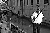 Venice Gondolier waits for a fare