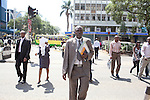 Detective Patrick Simiyu on the streets of Nairobi.