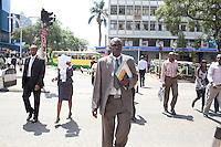 Detective Patrick Simiyu on the streets of Nairobi.