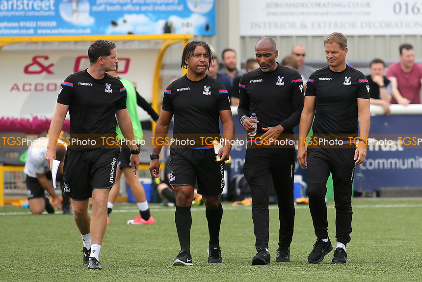 Crystal Palace Manager, Frank De Boer walks towards the dressing room at half-time during Maidstone United  vs Crystal Palace, Friendly Match Football at the Gallagher Stadium on 15th July 2017