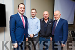 Michael Fitzsimons (Failte Ireland), Paul Finley (Waymark Trails), Pat Falvey (Explorer) and Jimmy Dennihan (Chairman of Kerry Sports Partnership) were the main speakers at the Walking tourism seminar at the Rose Hotel on Monday.