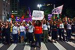 Manifestaçao em protesto contra o assassinato de Marielle Franco, Avenida Paulista, Sao Paulo. 2018. Foto © Juca Martins.
