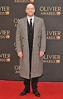 Derren Brown at the Olivier Awards 2018, Royal Albert Hall, Kensington Gore, London, England, UK, on Sunday 08 April 2018.<br /> CAP/CAN<br /> &copy;CAN/Capital Pictures<br /> CAP/CAN<br /> &copy;CAN/Capital Pictures