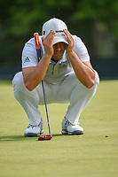 Adrian Otaegui (ESP) lines up his putt on 5 during 4th round of the 100th PGA Championship at Bellerive Country Club, St. Louis, Missouri. 8/12/2018.<br /> Picture: Golffile   Ken Murray<br /> <br /> All photo usage must carry mandatory copyright credit (© Golffile   Ken Murray)