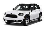 2018 MINI Countryman 5-Door 5 Door Hatchback Angular Front stock photos of front three quarter view