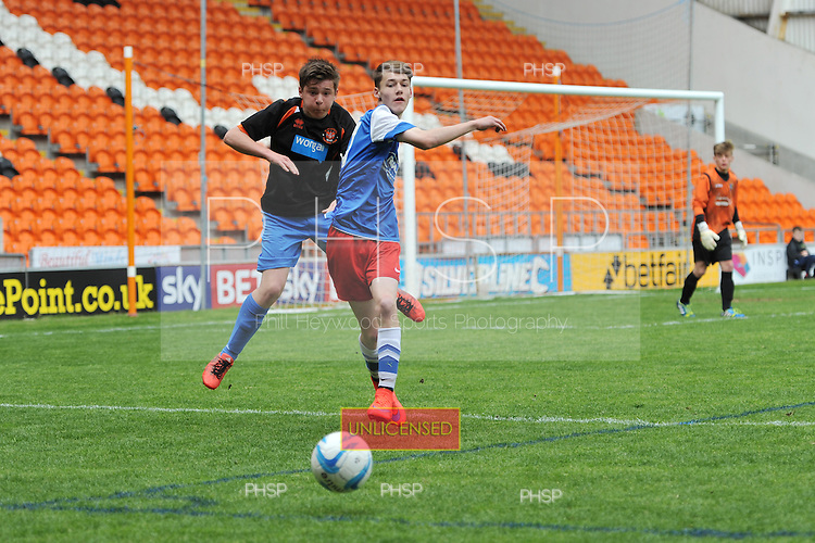 10/05/2015 B&amp;DYFL Hogan Cup Final 2015 U-145 Blackpool Rangers v Kirkham JFC Blues<br /> &copy;  Phill Heywood
