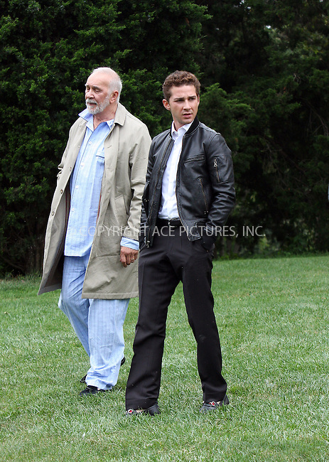 WWW.ACEPIXS.COM . . . . .  ....September 10 2009, New York City....Actors Frank Langella and Shia Labeouf on the set of the new movie 'Wall Street2, Money never sleeps' on September 10 2009 in New York City......Please byline: AJ Sokalner - ACEPIXS.COM..... *** ***..Ace Pictures, Inc:  ..tel: (212) 243 8787..e-mail: info@acepixs.com..web: http://www.acepixs.com