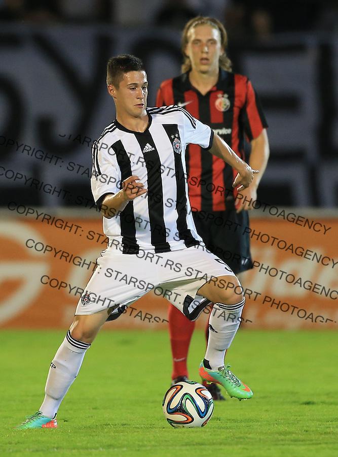 Fudbal Football Soccer<br /> UEFA Champions league-2nd qualifying round<br /> Partizan v HB Torshavn (Faroe Islands)<br /> Danilo Pantic<br /> Beograd, 07.15.2014.<br /> foto: Srdjan Stevanovic/Starsportphoto &copy;